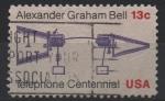 Stamps : America : United_States :  CENTENARIO  DEL  DEL  TELÉFONO.  PRIMERA  LLAMADA  TELEFÓNICA.