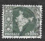 Stamps India -  281- Mapa de la India