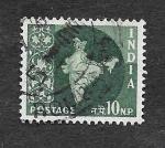 de Asia - India -  281- Mapa de la India