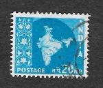 de Asia - India -  284 - Mapa de la India