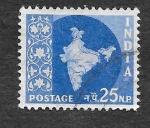 de Asia - India -  285 - Mapa de la India