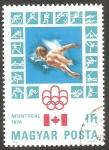 Sellos del Mundo : Europa : Hungría : 2503 - Olimpiadas de Montreal, natación