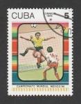 Stamps Cuba -  Campeonato mundial fútbol México 1986
