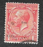 Stamps United Kingdom -  160 - Jorge V del Reino Unido