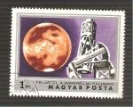 Sellos del Mundo : Europa : Hungría : 2360 - Fotografia de Marte desde el observatorio del Monte Palomar