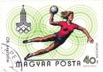 Sellos del Mundo : Europa : Hungría : 429 - Olimpiadas de Moscú, Balonmano