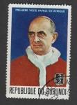 Stamps Burundi -  Visita de Pablo VI a Africa