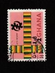 Stamps Ghana -  Banderas cruzadas