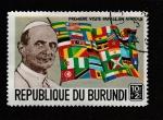 Stamps Burundi -  1ª visita papal a Africa