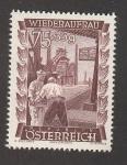 Stamps Austria -  Reconstrucción