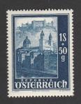 Stamps Austria -  Reconstrucción catedral Salzburgo