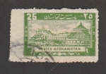 Sellos de Asia - Afganistán -  Complejo edificaciones