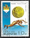Sellos de Asia - Corea del norte -  Medallistas olimpicos - Tadeusz Slusarski
