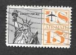 Sellos de America - Estados Unidos -  C63 - Estatua de la Libertad