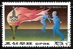 Stamps Asia - North Korea -  Juegos Olimpicos de verano - Esgrima