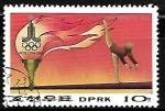 Stamps Asia - North Korea -  Juegos Olimpicos de verano - Gimnasia