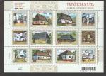 Stamps Ukraine -  Viviendas rurales región de Slobozha