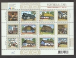 Sellos de Europa - Ucrania -  Viviendas rurales región de Dnepr
