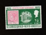 Stamps America - San Cristóbal Island -  Centenario del sello de St Kitts