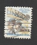 Sellos de America - Estados Unidos -  Orville y Wright pioneros de la aviación