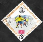Sellos del Mundo : Asia : Yemen : Mutawakelite  - Mundial de fútbol Mexico 70, Nordahl, jugador sueco