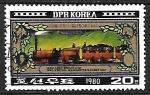 Stamps : Asia : North_Korea :  Tren de pasageros de 1830