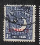 Sellos de Asia - Pakistán -  Luna creciente y estrella, sobreimpresión.