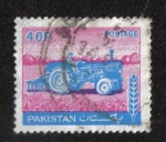Stamps Pakistan -  Tractor