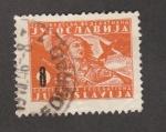 Sellos de Europa - Yugoslavia -  ujer luchando