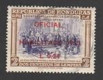 Stamps Honduras -  Los reyes católicos reciben a Colon