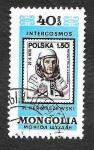 Sellos de Asia - Mongolia -  1128d - Cosmonautas de Vuelos de Intercosmos