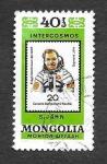 Sellos de Asia - Mongolia -  1128f - Cosmonautas de Vuelos de Intercosmos