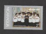 Sellos de America - Nicaragua -  Grandes coros del Mundo. Navidad 1975