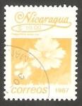 Stamps Nicaragua -  1436 - Flor