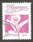 sellos de America - Nicaragua -  1447 - Flor