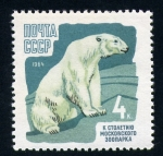 Stamps : Europe : Russia :  Oso polar
