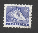 Stamps Hungary -  Castillo Szigliget