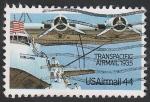 Sellos de America - Estados Unidos -  109 - Hidroavión cuatrimotor