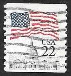 sellos de America - Estados Unidos -  1577 - Bandera y Capitolio