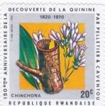 Stamps : Europe : Rwanda :  150 ANIV. DEL DESCUBRIMIENTO DE LA QUININA