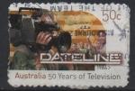 Sellos del Mundo : Oceania : Australia : 50 th  ANIVERSARIO  DE  LA  TELEVISIÓN  EN  AUSTRALIA.  LÍNEA  DE  DATOS.