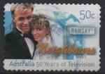 Sellos del Mundo : Oceania : Australia : 50 th  ANIVERSARIO  DE  LA  TELEVISIÓN  EN  AUSTRALIA.  VECINOS.