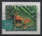 Sellos del Mundo : Oceania : Australia : RANA  ARBORÍCOLA  NARANJA