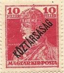 Sellos de Europa - Hungría -  IV KAROLY