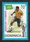 Stamps : America : Dominica :  389 - Mundial de fútbol en Alemania