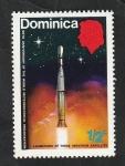 Stamps : America : Dominica :  348 - Centº de la Organización Metereológica Mundial