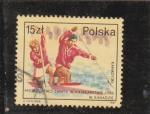 Sellos de Europa - Polonia -  CAMPEONATO MUNDIAL DE KAJAK 1986