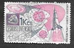 sellos de Europa - Checoslovaquia -  1457 - Exploración del Sistema Solar