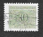 Sellos de Europa - Checoslovaquia -  J84 - Cifra