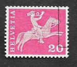 Stamps Switzerland -  385 - Mensajero a Caballo